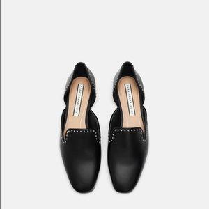 Zara studded black loafers🖤 NWT size 6